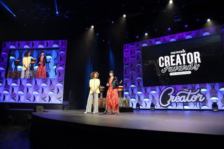 The San Francisco edition of the WeWork Creator Awards, held at the Palace of Fine Arts in May, drew speakers such as former Teen Vogue editor Elaine Welteroth and model Adi Neumann.