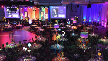 """#12 Benefit Underwritten by Rolex, the event raised more than $1.1 million for the Alzheimer's Association with some 700 guests celebrating at the 31st annual ball. The theme was """"Pure Imagination"""" inspired by Willy Wonka & the Chocolate Factory, and the association honored the family of Gene Wilder, who starred in the iconic children's film. Journalist Natalie Morales of NBC was honored with the Caregiver Award. Next: May 4, 2019"""