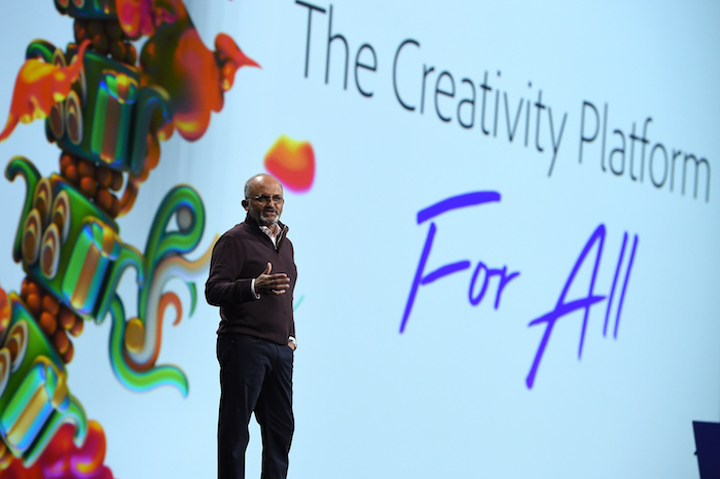 Adobe's president and C.E.O., Shantanu Narayen, welcomed more than 14,000 attendees to Adobe Max in October.