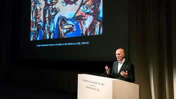 #9 Art & Entertainment Event (new to the list) Established in 1949, the founding goal of the A. W. Mellon Lectures in the Fine Arts was to make the best contemporary scholarship available to the public. In its 67th annual talks in 2018, professor of art and archaeology at Princeton University Hal Foster gave the six-part lecture series, entitled Positive Barbarism: Brutal Aesthetics in the Postwar Period. Held in the East Building Auditorium at the National Gallery of Art, the lectures attracted 1,000 listeners. Foster focused on the work of artists like Claes Oldenburg and Eduardo Paolozzi and how these artists picked up again after the trauma of World War II, the Holocaust, and the atomic bomb. Next: March 31-May 12, 2019