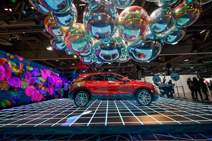 At the third annual ComplexCon, Cadillac launched its new XT4 vehicle during a collaboration with rapper Nas. The car was displayed in an eye-catching booth designed by Hfour that featured LED screens below and reflective, inflatable bubbles above. (The bubbles also doubled as a fun selfie opportunity.) The music, art, and fashion-focused event, founded by Pharrell Williams and artist Takashi Murakami, took place November 3 to 4 in Long Beach.
