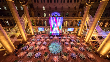 #13 Benefit (up from #15) In order to accommodate more guests, the Washington Performing Arts Gala moved to the National Building Museum, drawing nearly 600 guests. The event raised $1 million to support arts education initiatives and the presentation of artists at 10 different venues each season. This year, founding director of the National Museum of African American History and Culture Lonnie Bunch III received the Ambassador of the Arts Award. Singer Eric Owens, dance troupe Step Afrika, and the Washington Performing Arts Children of the Gospel Choir all performed during the evening. Next: March 30, 2019