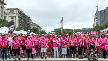 #9 Parade, Walk & Festival The annual race draws runners and walkers to raise money for breast cancer research and support programs, bringing a wave of pink T-shirts to downtown D.C. Last year, organizers changed the event date to September from Mother's Day weekend and moved the course from the National Mall to Freedom Plaza. Those changes held steady in 2018, bringing together 6,000 participants and raising more than an estimated $700,000. Top local sponsors included the Embassy of the United Arab Emirates, American Society of Clinical Oncology, WTOP, 97.1 WASH-FM, ABC7, News Channel 8, and CityPeek. Next year's event will be rebranded from the Race for the Cure to a new event experience called the Susan G. Komen More Than Pink Walk. Next: September 7, 2019