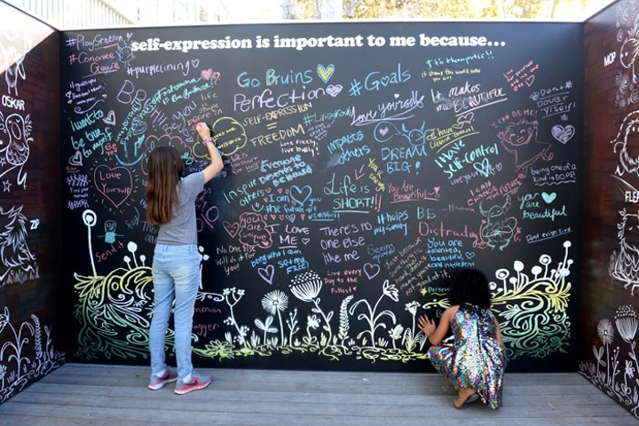 Teen Vogue's annual summit took place December 1 at 72andSunny in Los Angeles. The event, which was produced in house by CNX, featured a giant chalkboard where attendees could write why self-expression is important.