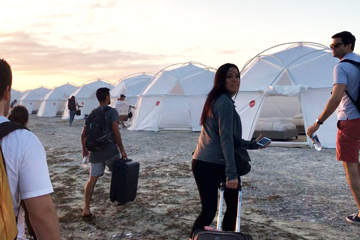 Netflix's Fyre shows festival attendees dragging their luggage to disaster relief tents. They were initially promised luxury lodging.