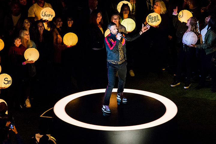 Some event professionals liked the use of drone lanterns during Maroon 5's halftime show, but wish the phrases had been more legible for the television audience.