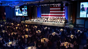 #1 Political & Diplomatic Event Named for the country's first Catholic presidential nominee, the white-tie Alfred E. Smith Memorial Foundation Dinner has given American political leaders from both sides of the aisle the chance to trade inside jokes and posit commentary for more than 70 years. In 2018, comedian Jim Gaffigan hosted the event and former U.N. ambassador Nikki Haley served as keynote speaker just one week after announcing her resignation. About 800 guests attended the dinner at the New York Hilton Midtown, raising $3.9 million for Catholic charities. Next: October 17, 2019