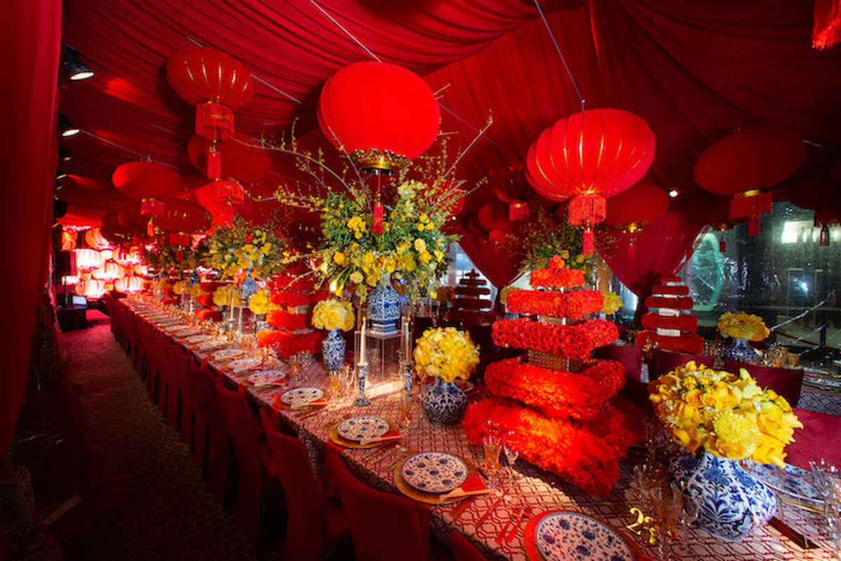 This Lavish Chinese New Year Party Was Packed With Decor And