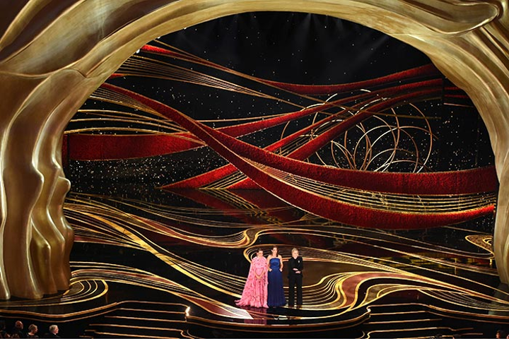 Maya Rudolph, Tina Fey, and Amy Poehler deliver a comedic monologue at the 91st Oscars, which took place February 24 at the Dolby Theatre in Los Angeles.