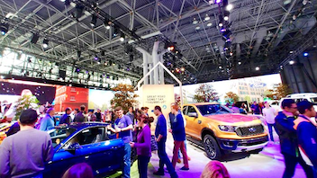 #1 Trade Show & Convention One million people attended the 2018 New York International Auto Show, making it the second-highest-attended edition in the event's 120-year history. Upwards of 1,000 vehicles were on display, including 61 that were unveiled for the first time. Guests of all ages got the chance to see what's on the horizon in the auto industry, participate in interactive simulations, and engage in virtual reality experiences. This year's show, which returns to the Jacob K. Javits Center, is set to include a showcase of startup electric car companies. Next: April 19-28, 2019
