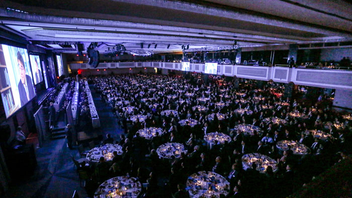 #18 Benefit (new to the list) Founded in 1975, the UJA-Federation of New York Wall Street Dinner raises money to support the organization's work to help New Yorkers in need. Attended by 2,000 Wall Street leaders, the dinner at the New York Hilton Midtown raised $31 million in 2018 alone, a $2 million increase over the prior year. The event honored Goldman Sachs C.E.O. David M. Solomon and featured keynote speaker Adam Neumann, co-founder and C.E.O. of WeWork. The evening also included the unveiling of a new UJA effort called Upward New York, which includes digital food pantries and wrap-around social services at two community hubs. Next: December 2019