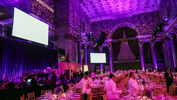 #16 Benefit In 2018, the 21st annual Samuel Waxman Cancer Research Center's Collaborating for a Cure Gala raised $2.5 million to support research projects focused on eradicating cancer. The gala, held at Cipriani Wall Street, drew 1,200 guests and included a silent auction and a live performance by Dawes. Next: November 21, 2019