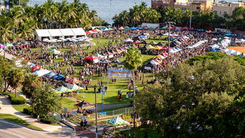 Produced by Swarm Inc., 2018's Grovetoberfest lured more than 500 participating breweries to pack Florida's largest beer festival. In addition to beers, last year's event featured live performances and an outdoor throwback game room. The event draws some 5,000 attendees to Coconut Grove's Regatta Park. Next: October 2019