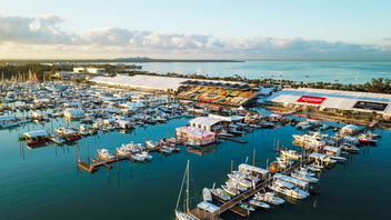 The 2019 Presidents Day weekend rang in the 78th annual Progressive Insurance Miami International Boat Show, presented by West Marine. The show's attendance was 91,518 people. Transportation to and from the Miami Marine Stadium and Park Basin on Key Biscayne improved: Complimentary water taxi ride usage rose 18 percent over 2018, totaling nearly 60,000 rides, and bus ridership went up 24 percent. The show debuted the new Miami Connections app, powered by RaftUp, and onsite transportation screens. Next: February 2020