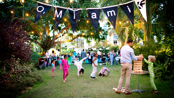 "Every April, Miami muses on words with the monthlong O'Miami Poetry Festival and its mission to have every person in Miami-Dade County encounter a poem. This year marks its eighth anniversary, and it will herald in its first permanent installation, the sculpture 'Stay Gold' by Jessy Nite, which was inspired by a Robert Frost poem. In another project, a ""flash-mob"" style gathering will have people in custom flip-flops leave impressions of text on Miami Beach's sands. O, Miami is backed by the Knight Foundation. Next: April 1-30, 2019"