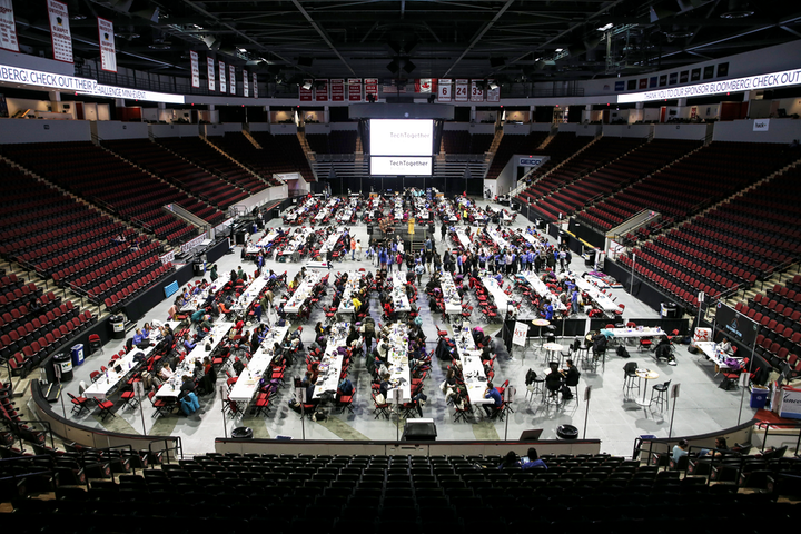 Hackathons like TechTogether in Boston (pictured) are examples of events that require attendees to work toward a common understanding.