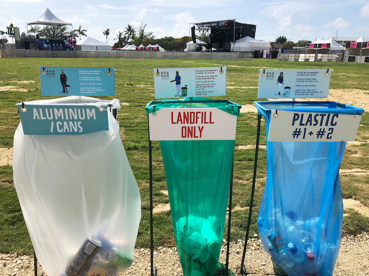 At the Kaaboo Cayman music and art festival in February, Kilowatt One implemented the island's first large-scale event recycling and landfill diversion program.