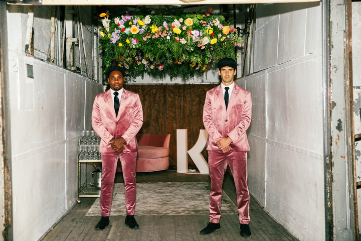 Swedish banking company Klarna hosted its West Coast launch on April 10 at Hudson Loft. Dubbed the 'Smoooth Sessions,' the event featured a panel on technology and commerce, plus immersive spaces such as a monochromatic rec room, a shop with custom giveaways, a photo booth with larger-than-life props, and oversize floral displays. Guests were immediately welcomed with a freight elevator filled with hanging florals and champagne service. The evening was designed and produced by Sequence Events. (Click here to see inside Klarna's New York launch in February.)