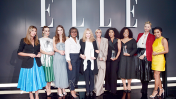Elle celebrated its 25th annual Women in Hollywood awards in Beverly Hills in October. The event honored Angela Bassett, Sarah Paulson, Yara Shahidi, Charlize Theron, Shonda Rhimes, and other prominent women; Mindy Kaling hosted. The awards continued to address the #MeToo and Time's Up movements—in a standout moment, honoree Lady Gaga spoke of her own sexual assault and pushed for mental health resources. Next: October 2019
