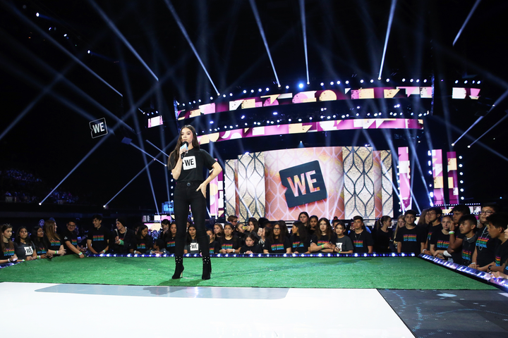 WE Day California took place at the Forum on April 25. The activism-focused event drew 16,000 high-school students and educators, and it was hosted by Neil Patrick Harris. Speakers and performers at the Allstate Foundation- and Unilever-sponsored event included Natalie Portman, Meghan Trainor, Mahershala Ali, and Hailee Steinfeld (pictured). Portions of the event will be included in a national televised special airing on ABC in August.