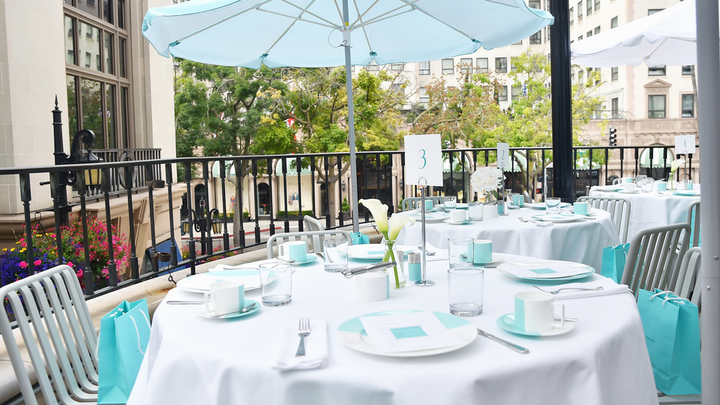 For an early Mother's Day celebration, Tiffany & Co. invited Angelenos to have 'Breakfast at Tiffany's' at the brand's Beverly Hills location. The two-day pop-up breakfast cafe ran from May 4 to 5; all proceeds from the $45-per-head menu went to nonprofit Baby2Baby. The outdoor cafe, which was produced by the brand in-house, used Tiffany & Co.'s blue color-block tableware.