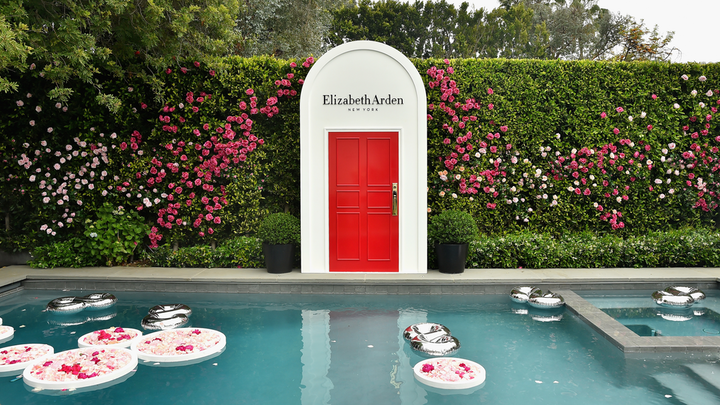 Beauty brand Elizabeth Arden launched its latest sunscreen with a garden party hosted by Reese Witherspoon on May 15. Held at a private home in Beverly Hills, the colorful, summery event included oversize floral displays and subtle branding. BrownHot Events handled production.
