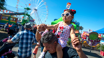 Shortly after Orange County formed in 1889, the long-running fair began in Costa Mesa. It has since grown from a small, five-day community celebration to a 23-day festival that last year set attendance records with 1,470,636 visitors, a 10-percent attendance increase from 2017. The monthlong fair featured 35 sold-out performances at the Pacific Amphitheater, the Hangar, and Action Sports Arena. Through community programs, the fair collected more than 11,000 children's books, 10,000 items of clothing, almost 9,000 cans of food, and 8,000 school supplies for local charities. Next: July 12-August 11, 2019