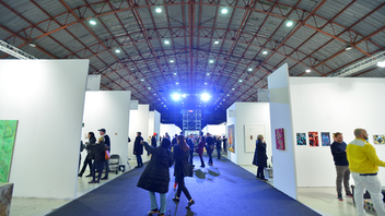Held at the Barker Hangar in Santa Monica, the fair presents top established and emerging galleries from around the world, emphasizing local L.A. galleries. 2019 marked the event's 10th edition; it featured new visual branding and a reimagined floor design, and it ncluded 80 exhibitors. Returning for its second year was a V.I.P. music series from Grammy-winning artist Daniel Lanois. Next: February 14-16, 2020