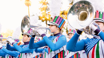 The holiday event is one of the longest-running gatherings in town; the parade first debuted in 1893. It's held every New Year's Day—unless the holiday falls on a Sunday, in which case it moves to the next day. The nationally televised parade, filled with eye-catching floats made of fresh flowers, draws about 700,000 spectators and is presented by Honda. The accompanying Rose Bowl football game, also more than a century old, draws about 100,000 and is sponsored by Northwestern Mutual. In 2019, the Ohio State Buckeyes defeated the Washington Huskies. Next: January 1, 2020