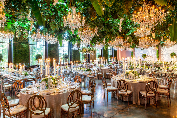 """I had the honor of doing my niece's wedding this past fall…. She entrusted me with her entire reception experience. Upon arrival at the Geraghty, guests were greeted with a Hamptons-esque cocktail party [followed by] a formal dinner in a lush, Parisian garden setting."""
