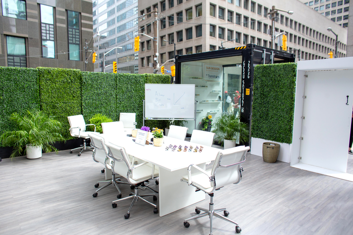 The Sun Session Boardroom by Transitions Lenses took place June 17-20 outside Royal Bank Plaza.