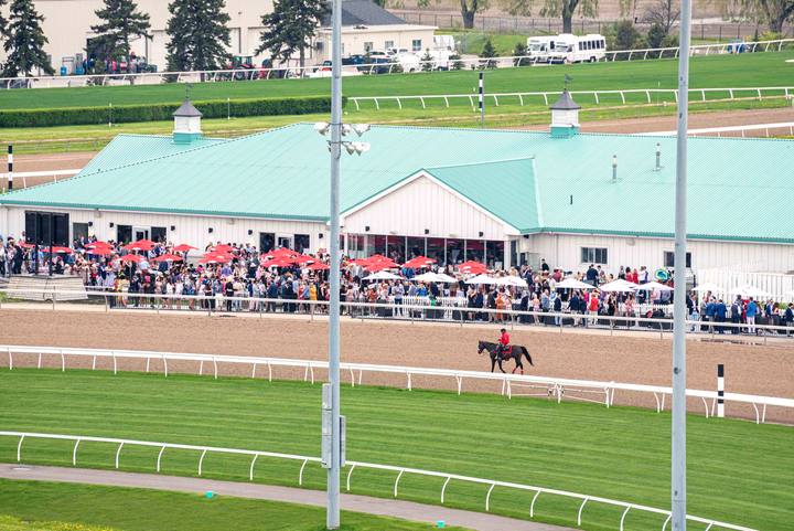 Woodbine Racetrack recently opened a clubhouse with a 6,000-square-foot patio that brings spectators right next to the track.