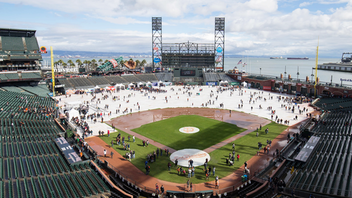 For fans determined to meet their baseball idols—like pitcher Madison Bumgarner, should he remain with the Giants after the 2019 season—FanFest is an exercise in patience. The lines for autographs can be long, and the 30,000-strong crowd is committed. But there's more to do than take selfies with baseball players. The rain-or-shine free event at Oracle Park includes self-guided tours of the stadium, close-ups with the World Series trophies, time to play on the field (weather permitting), and the opportunity to purchase single-game tickets for the season. Next: February 2020