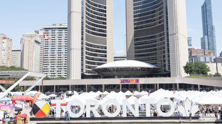 The 58th annual Toronto Outdoor Art Fair took place July 12 to 14. The event showcased works from more than 360 contemporary artists at Nathan Phillips Square.