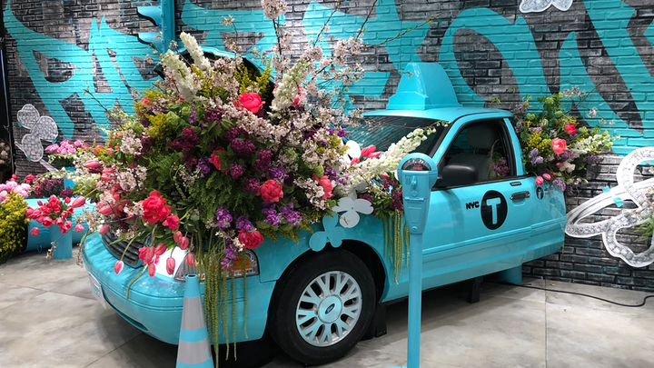 Angel Salazar Design (@angelsalazardesign) arranged florals for a Tiffany & Co. event in 2018. See more: Trend Spotted: Floral Installations In Cars