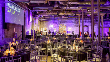 Up from #20 For its 15th edition, this gala in support of literacy hosted a capacity crowd that raised $500,000 and included author Margaret Atwood and Toronto Mayor John Tory. The event returned to the Distillery District's Fermenting Cellar and featured a new house band to keep dancers on their toes. Sponsors included Bombardier and Equitable Bank. Next: January 22, 2020