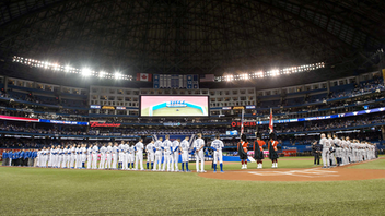 The Blue Jays came just short of selling out the Rogers Centre for opening day this year, with 45,000 fans each receiving a Blue Jays pocket T-shirt and witnessing a 2-0 loss to the Detroit Tigers. Pre-game ceremonies included honoring Roy Halladay's election to the Baseball Hall of Fame. Opening Day was presented by TD Bank. Next: Spring 2020
