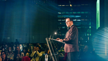 This grand gala sold out again in 2018, with 450 attendees in the Four Seasons Hotel Ballroom, when BMO returned as a presenting sponsor. The evening culminated in the announcement that author Charles Foran would be awarded the $50,000 Writers' Trust Fellowship. New committee co-chairs aim to revamp the event format for 2019. Next: November 14, 2019