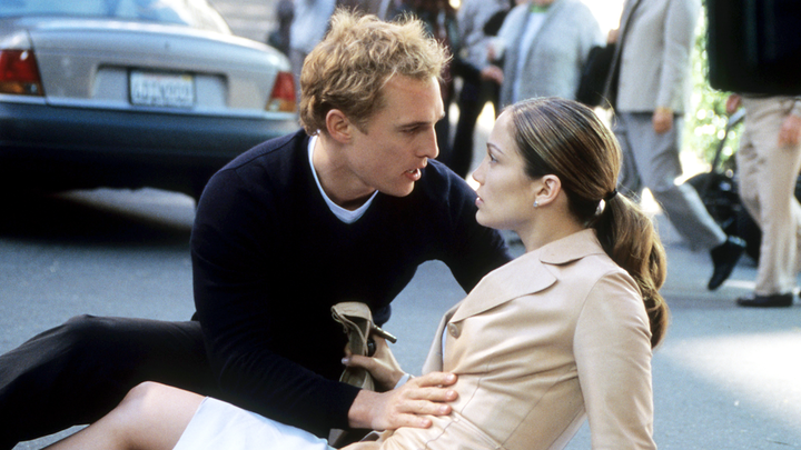 Jennifer Lopez and Matthew McConaughey star in the 2001 film The Wedding Planner.