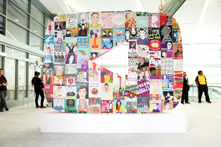 """At VidCon 2017, the entrance to YouTube's B-to-B lounge was marked by a large logo featuring illustrated posters of the platform's creators. """"[We] worked with a whole group of illustrators to create these,"""" said Mia Choi, event producer MAS Event & Design's chief creative officer. """"They were first used in an event we produce every year, the YouTube Creators Summit. We loved the illustrations so much, so we thought it would be a fun way to incorporate some of the creators into this event at VidCon."""" See more: See How YouTube Created Five Distinct Events at One Convention"""