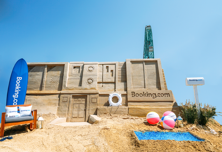 Located at Luna Park in Coney Island, Brooklyn, the giant sandcastle was available for guests to book for $29 per night.