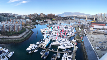 Despite a cold front with high winds and a rare snowfall in downtown Vancouver, the Vancouver International Boat Show attendance was 28,764 for the 2019 show, even with the previous year. The show is held in two locations, BC Place and a floating show at Granville Island. Visitors expressed interest in products such as canoes, kayaks, paddleboards, bowriders and fishing boats, ski and wakeboard boats, and the luxury yachts and cruiser segments. Owned by the Boating BC Association and produced by Canadian Boat Shows, organizers are hoping for better weather at the 2020 event. Next: February 5-9, 2020