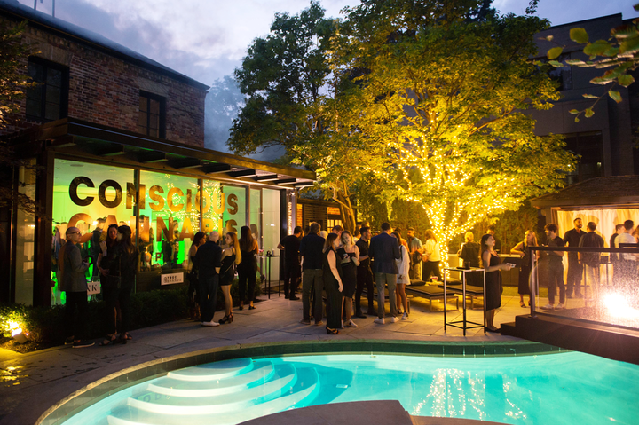 NKPR's 11th annual Film Festival Countdown event took place August 21 at the home of company president Natasha Koifman. Event sponsor Trec Brands sampled cannabis brands in a green-hued room.