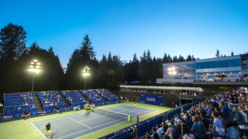 A Tennis Canada event with title sponsorship by Odlum Brown, the Vancouver Open played at West Vancouver's Hollyburn Country Club is the largest men's and women's professional tennis tournament in Western Canada. Combined prize money for the event in U.S. is $200,000. Past champions have included Maria Sharapova, Marcos Baghdatis, Vasek Pospisil, and Johanna Konta. Next: August 2020
