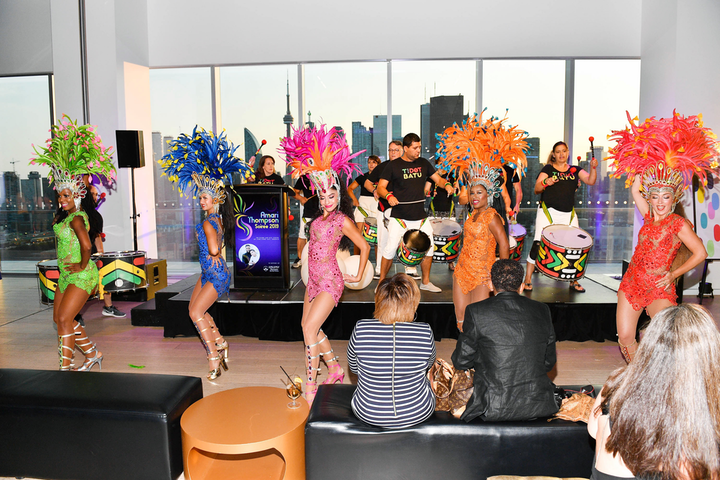 Afro-Brazilian music and dance group TDot Batu performed at the sixth annual Amari Thompson Soiree, which took place August 1 at the Globe and Mail Centre. The event raised money for Epilepsy Toronto.