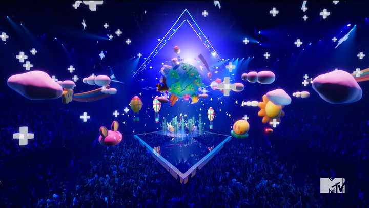 Surreal augmented-reality animations were included in many performances at the 2019 MTV Video Music Awards, including 'Que Pretendes' by J. Balvin and Bad Bunny.