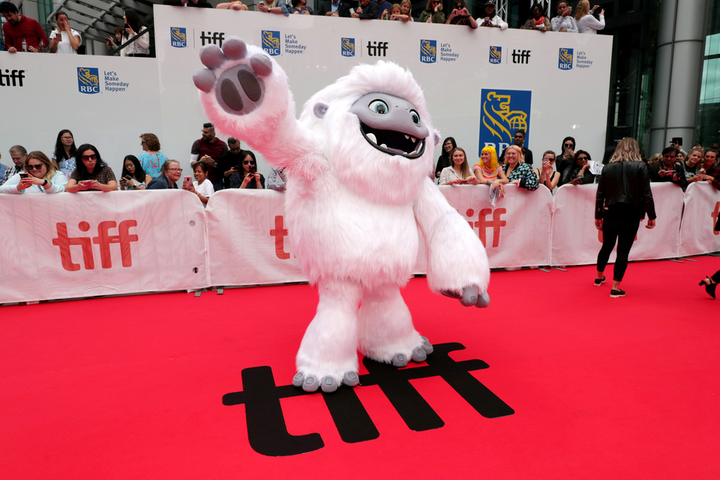 A Yeti mascot appeared on the TIFF red carpet for the world premiere of DreamWorks Animation and Pearl Studio's film Abominable. The festival's 44th edition ended Sunday.