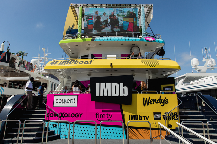For San Diego Comic-Con in July, entertainment database IMDb hosted a three-story yacht docked outside the San Diego Convention Center. The space, produced by NVE Experience Agency, featured Comic-Con-inspired games, food, and photo moments; director Kevin Smith was on board to conduct interviews with stars. See more: Comic-Con 2019: The Coolest Things You Missed at the Massive San Diego Convention