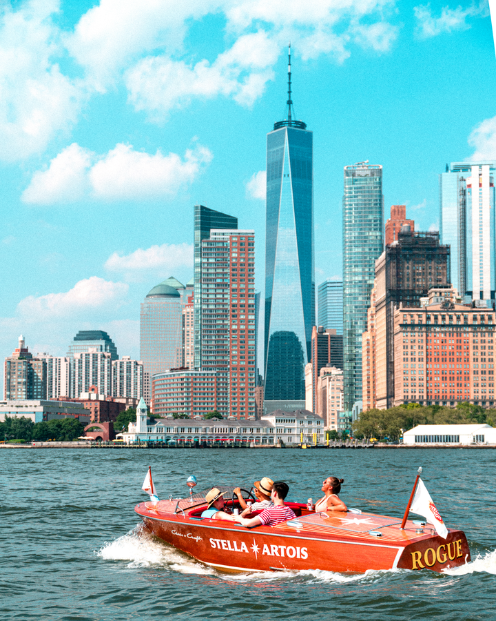For a week in July and August, Stella Artois gave New Yorkers an alternative commute option by launching a fleet of French Riviera-style Riva boats. Consumers could sign up online to ride in the two-person boats, which transported commuters between Pier 25 in Manhattan and Pier 5 in Brooklyn. Bait Shoppe produced the activation. See more: Cheers to Summer: 24 Event Highlights From Beverage Brands This Season