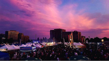 Toronto This free, Asian-theme night market drew a crowd of 135,000 this year—an increase of about 5,000 people—by including more family-friendly activations and sports-theme games at the Markham Civic Centre. This year's beneficiary charity, Rainbow Railroad, received $10,000, and TD Bank returned as a sponsor. Next: July 2020